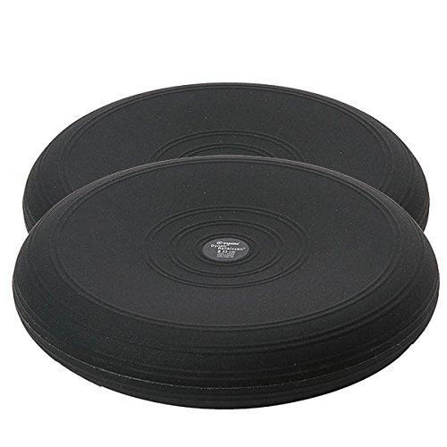 2 x Togu Dynair Ballkissen Sitzkissen Balancekissen Gymnastik 33cm schwarz