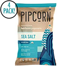 Pipcorn Heirloom Mini Popcorn - Sea Salt, 4.5oz Bags, 4 Pack