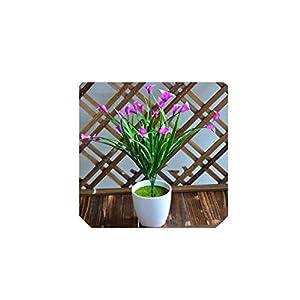 25 Heads/Bouquet Mini Artificial Calla Leaf Silk Fake Flower Lily Plastic Aquatic Plants Home Decoration,Purple 76