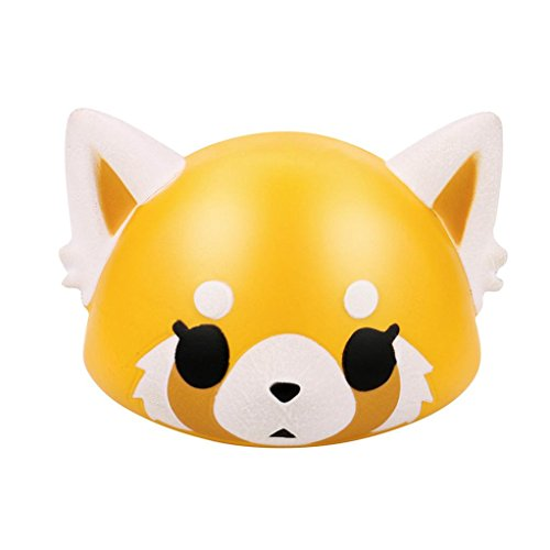 Slow Rising Squishies,Aritone Mini Cute Fox Squishy Squeeze Stress Reliever Toy 8cm (Yellow)