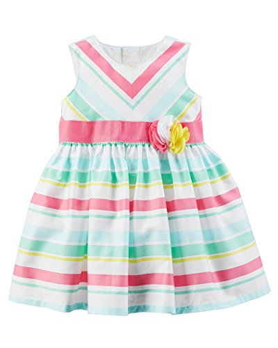 Carter's Baby Girls' Rosette Sateen Dress 3 Months