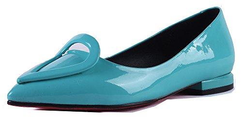 Cheville Mode Bleu Coeur Ballerines Pointu Aisun Bout Femme I7wx5qngp