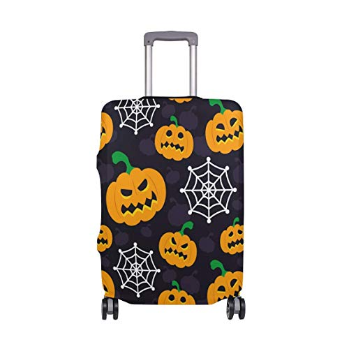 Halloween Pumpkin Spider Web Travelers Choice Travel Luggage with Spinner Wheels 24 Inch Baggage -
