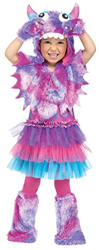 Monster Inc Girl (Fun World Costumes Baby Girl's Polka Dot Monster Toddler Costume, Pink/Blue, Small)