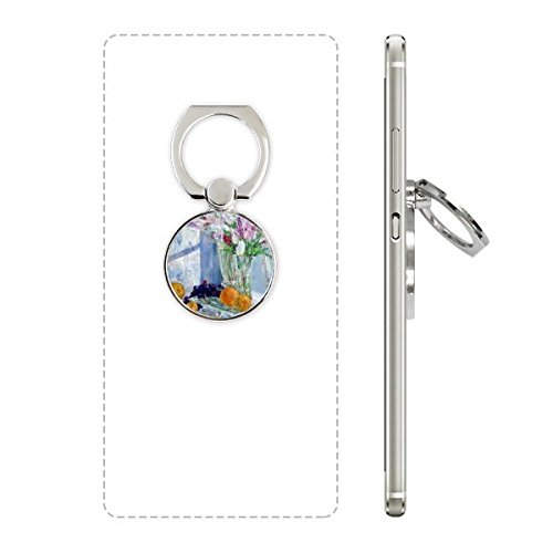Still Life Painting Vase Flower Grape Cell Phone Ring Stand Holder Bracket Universal Smartphones Support Gift (Pedestal Grape)