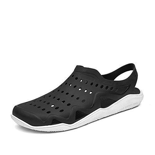 da uomo piccolo cava Nero Sunny tacco Ciabatte e Gray piatto Dimensione Bianco Color EU Antiscivolo sandali sandalo da amp;Baby Black esterno con su 41 EC88Fqvtw