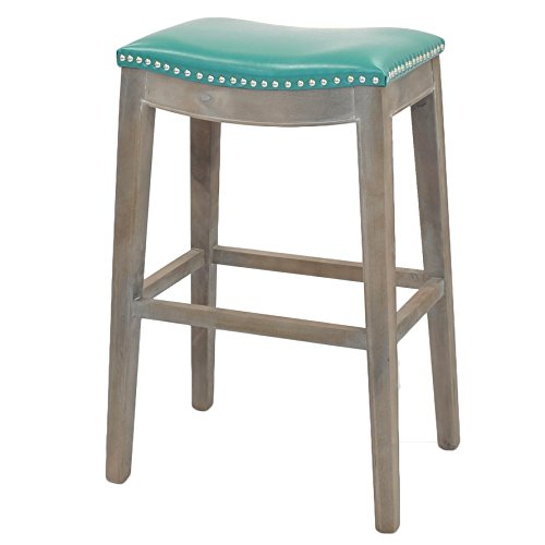 New Pacific Direct Elmo Bonded Leather Bar Stool,Distress...