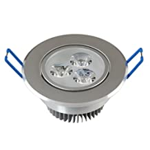 Lemonbest 110V 3W Dimmable LED Downlight Recessed Ceiling Light Fixtures , Cool White