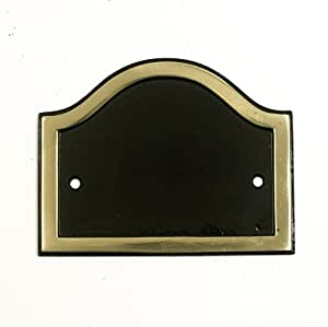 Arco fundido para número de casas con texto en inglés - negro con latón Border - número de casas se entrega!