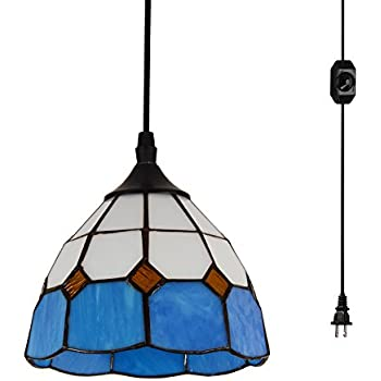 Hmvpl Natural Shell Plug In Pendant Lights With 16 4 Ft