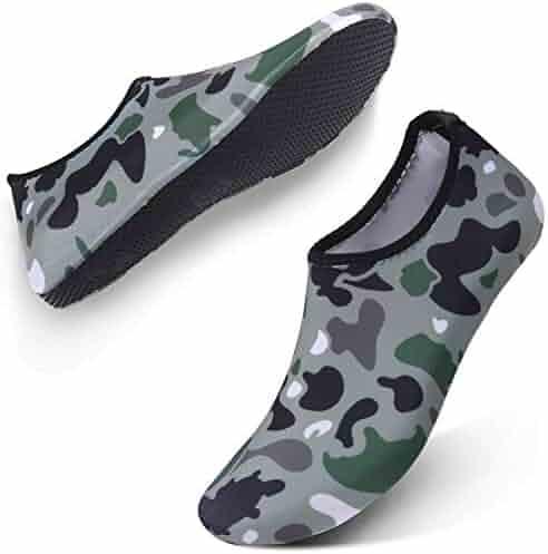 7d74292d417c JIASUQI Outdoor Lightweight Pool Beach Swim Surf Athletic Aqua Water Shoes  Socks for Kids Women Men