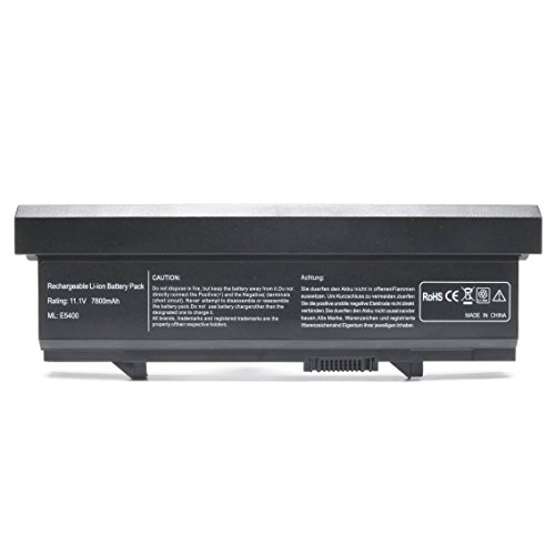New Laptop Battery for Dell Latitude E5400 E5410 E5500 E5510 KM668 KM742 PW640 U116D W071D RM649 RM656 312-0762 312-0769 KM769 KM771-[11.1V 7800mAh]