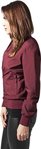 Urban Blouson Rouge Jacket Light Burgundy Bomber Classics Ladies 606 Femme rBwnSqRrFx
