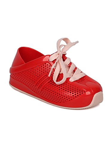 Melissa Mini Mini Love System PVC Perforated Lace Up Sneaker HC08 - Red/Pink Jelly (Size: Toddler 9)]()