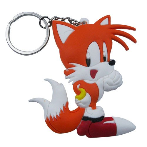 The HEDGEHOG Sonic Tails Key Ring Chain -