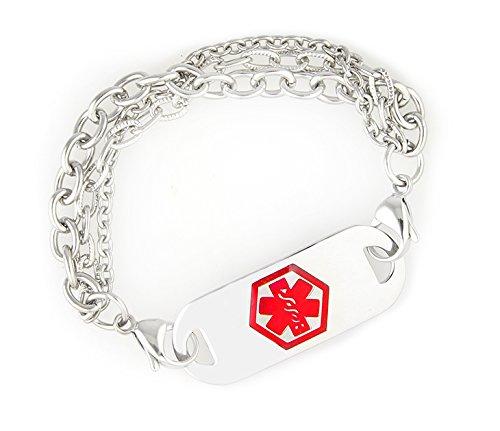UPC 857903002613, Medical Alert ID Stainless Triple Strand Bracelet-Coumadin