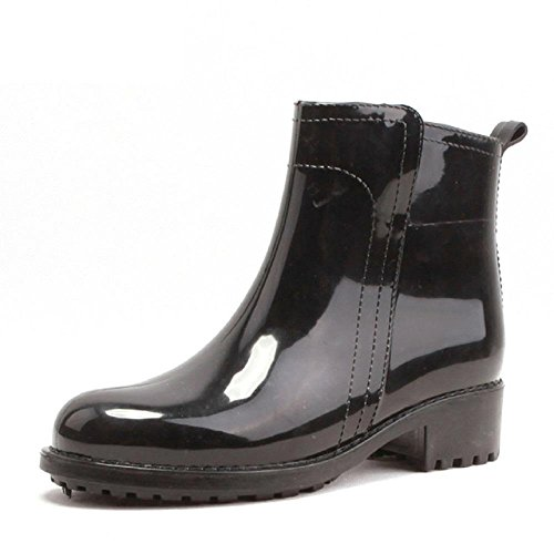 Adult Fashion Madam Non-slip Rain boots Black RK4pJKxl2