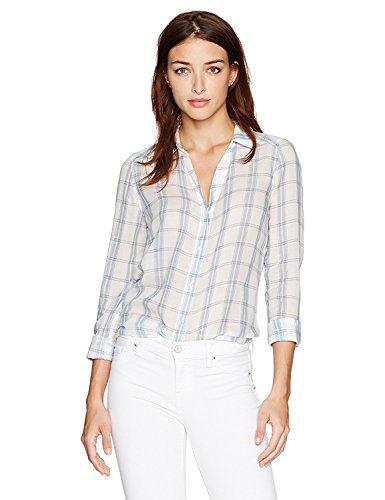 シソーラス金銭的地域Paige Women's Kiernan Shirt White/Pale Mauve S [並行輸入品]