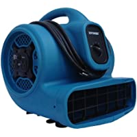 XPOWER X-400A 1/4 HP 1600 CFM 3 Speed Air Mover with Dual Outlets for Daisy Chain, 3.0-Amp