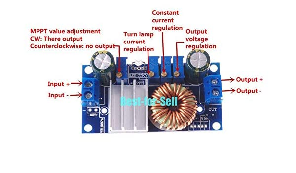 5A MPPT Solar Panel Controller Voltage Step-down Module Constant Current  K