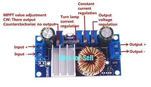 (FidgetKute MPPT Solar Controller DC 3.3V 5V 12V 24V 5A CC CV Step Down Power Charger Module)