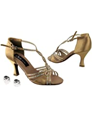 Ladies Women Ballroom Dance Shoes from Very Fine Competitive Dancer CD2801 with HP 3 Heel
