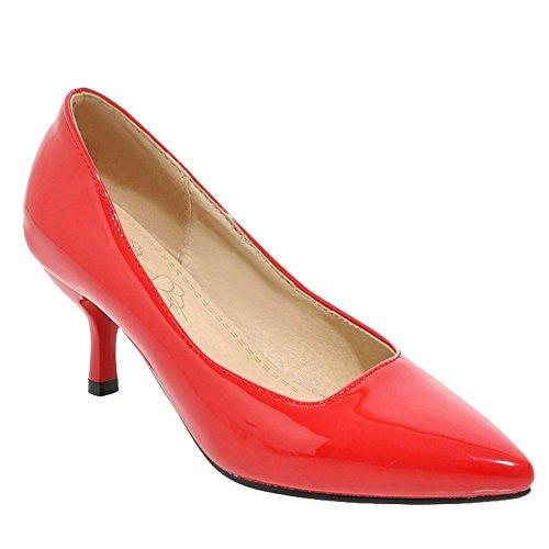 Fermeture Talons Rouge Enfiler à Aiguille Bout Pointue MissSaSa Femmes Escarpins wqAaxp