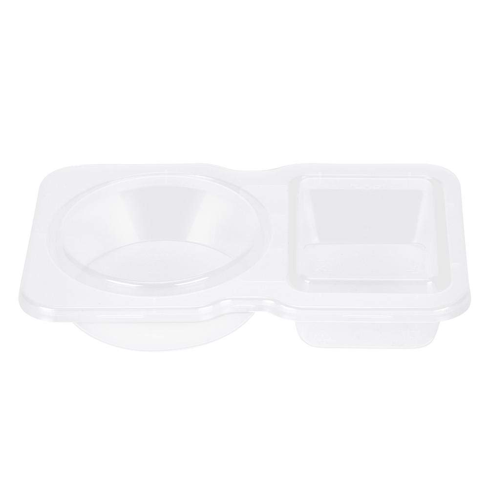 Yosoo 40 Pack Slime Storage Containers Transparent Plastic Disposable Sauce Cups 5-Ounce Doble Grid Takeaway Food Storage Containers for Tomato Sauce Salad Chutney Boxes with Lid