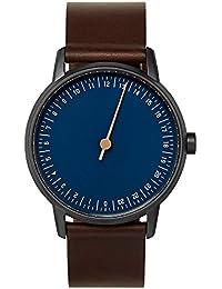round 03 - Dark Brown Leather, Anthracite Case, Blue Dial