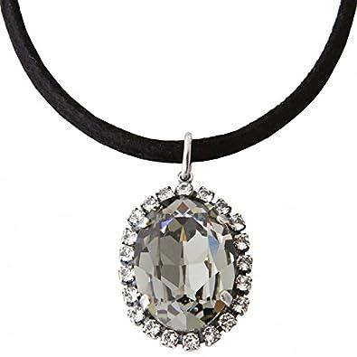 grande vente de liquidation original à chaud Meilleure vente Manon de Brécourt - Collier lacet coton noir avec cristaux ...
