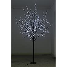 250 cm LED Tree Light with 800 lights with white cherry blossom
