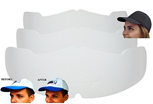 3Pk. White Manta Ray Baseball Caps Crown Inserts For Low Profile Caps| Hat Shaper| Hat Stretcher| Hat Crown Stiffener| Flex-fit Hat Support| Hat Padding| Hat Cleaning Aide| Cap Storage Aide| - Profile Cap Logo Low