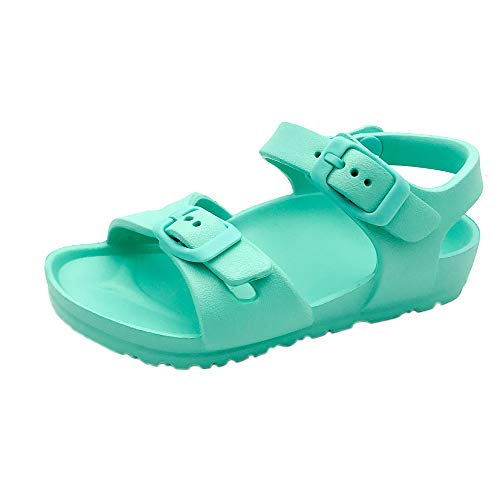 Toddler and Girl's Waterproof Sandal with Adjustable Straps and Buckles | EVA Upper Material and Odor Resistant Footbed with Arch Support | Flexible and Lightweight Synthetic Midsole XL 11/12 TURQ