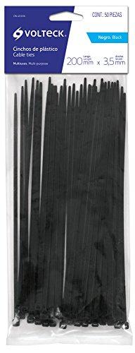 Volteck CIN-4020N, Cinchos Plásticos, 20 cm (50 Piezas)