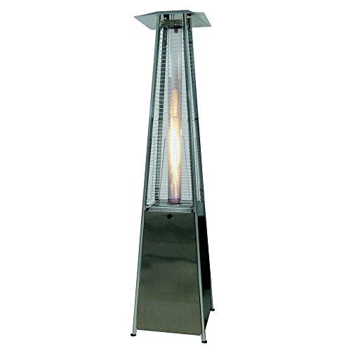 Palm Springs Pyramid Quartz Glass Tube Flame Patio Heater - Stainless Steel - Infrared Quartz Tube