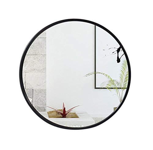 Mirror - bathroom, round make-up, wall-mounted European wall Wall hanging 40/50/60 / -