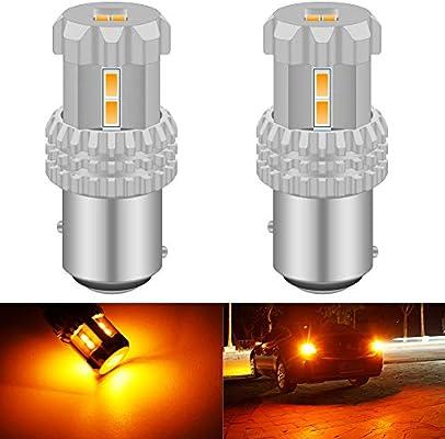 2X Car 4 COB LED 1157 BAY15D Brake Turn Signal Rear Light Bulb Lamp Yellow//Amber