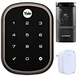 Yale Locks Assure Lock SL with Z-Wave in Bronze (YRD256) Smart Front Door Bundle with Xtreme WiFi Smart HD Video Doorbell Camera and Door Chime