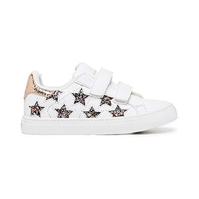 Clarks Girls Starburst Fashion Shoes, White/Multicolor Glitter, 11.5 US