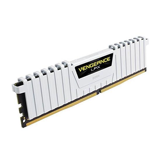 Corsair Vengeance LPX 16GB (2x8GB) DDR4 DRAM 3200MHz C16 Desktop Memory Kit – White (CMK16GX4M2B3200C16W) 41k0l5loAyL. SS555