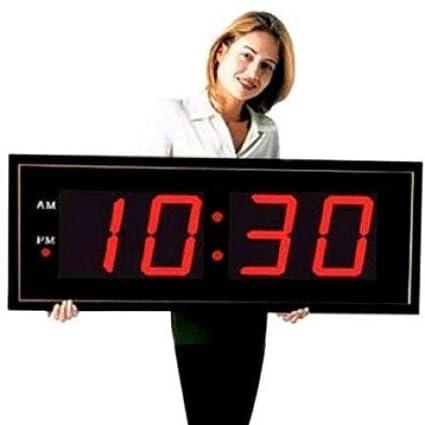 "Grande Digital LED reloj – Gigante 8 ""números LED rojo reloj de pared con"