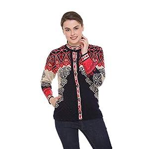 SatSun Women's Winter wear Exclusive Multicolor Woolen Cardigan