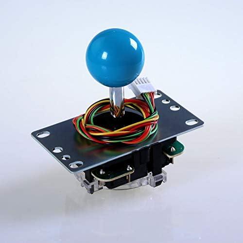Sanwa JLF-TP-8YT-SK OEM Light Blue Ball Handle Arcade Joystick 4 ...