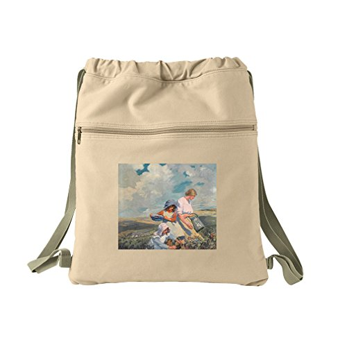 Blackberry Gathering (Elizabeth Forbes) Canvas Dyed Sack Backpack Bag