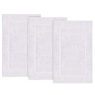 """Simpli-Magic 79179 Bath Mats, 21""""x34"""", White 3 Pack"""
