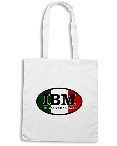 T-Shirtshock - Bolsa para la compra OLDENG00139 italian by marriage ash Blanco