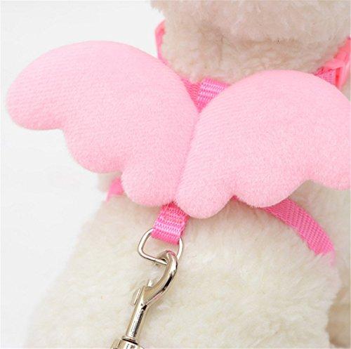 [Adjustable Pet Chain,Hemlock Angel Wing Puppy Dog Suit Collar Cloth (XS, Pink)] (Diy Costumes Kids)