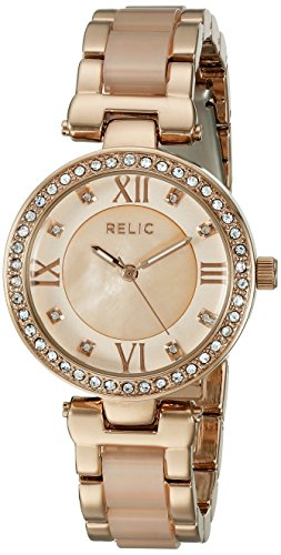 Relic by Fossil Women's Selma Quartz Metal and Acetate Dress Watch, Color: Rose Gold, Blush (Model: ZR34335)