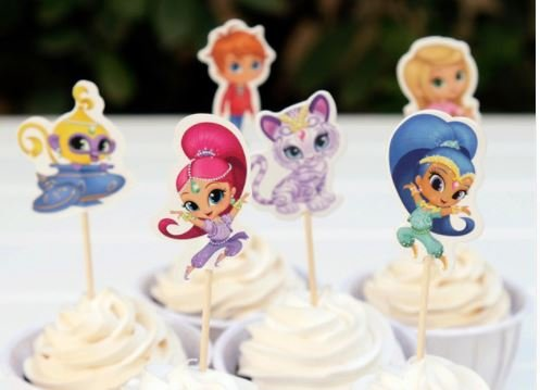 Shimmer and Shine Assorted Cupcake Picks Set of 12