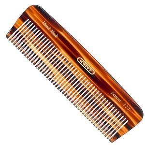 Kent 12T 5'' 146mm Handmade Comb Medium Size for Thick/Coarse Hair Sawcut (4 PACK) by KENT